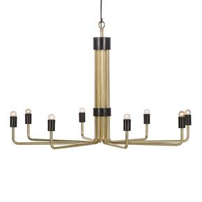 Le-Marais-Chandelier-Polish-Brass-&-Black-(8-Light)_Nellcote_Treniq_0