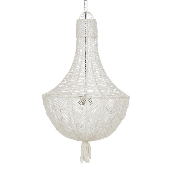 Hamptons knit chandelier in white (large) nellcote treniq 1 1504201556126