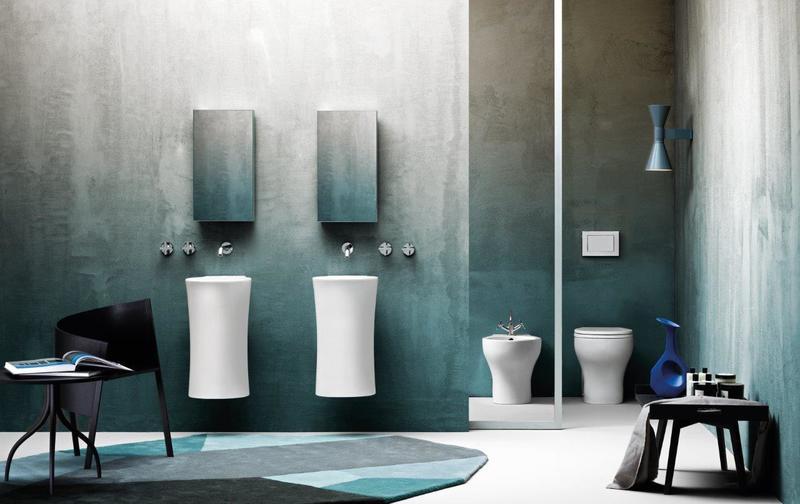 Nativo wall hung wash basin brass   clay treniq 1 1504458700386