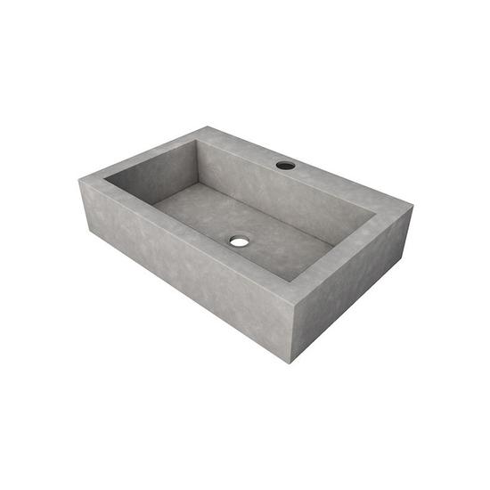 Sense counter top washbasin with tap hole living concrete ltd treniq 1 1504871215110
