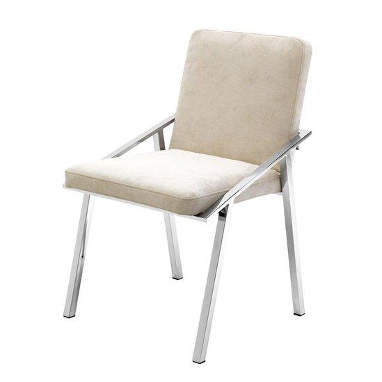 Ecru velvet chair   eichholtz reynolds eichholtz by oroa treniq 1 1505474454700