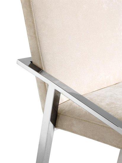 Ecru velvet chair   eichholtz reynolds eichholtz by oroa treniq 1 1505474454718