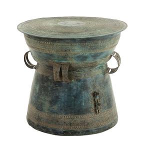 Antique Green Side Table   Eichholtz Drum Thai