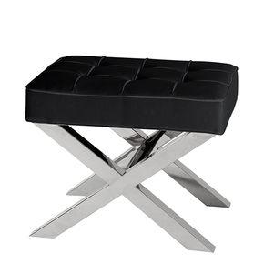 Black Leather Stool | Eichholtz Beekman Place
