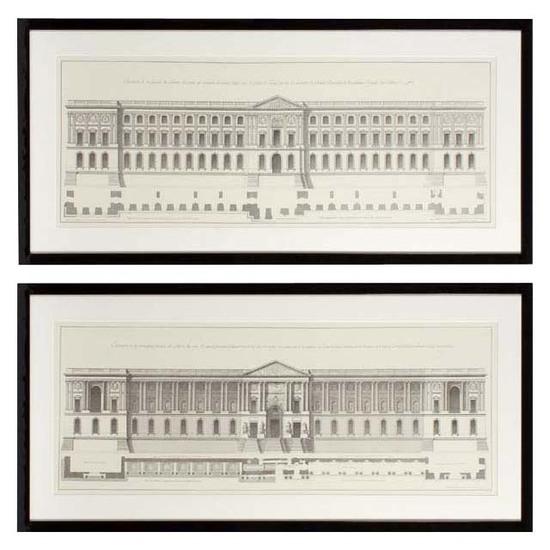 Eichholtz facade du louvre print (set of 2) eichholtz by oroa treniq 1 1506541161988
