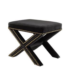 Black-Fabric-Stool-|-Eichholtz-Perugia_Eichholtz-By-Oroa_Treniq_0