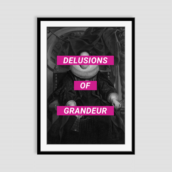 Delusions of grandeur framed art print prince   rebel treniq 1 1506967949847