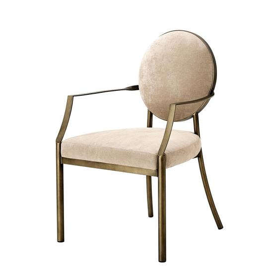 Greige dining armchair   eichholtz scribe eichholtz by oroa treniq 1 1506991324378