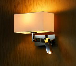 Wall-Lamp-With-Fabric-Shade-And-1-Led-Spotlight_Gronlund_Treniq_0