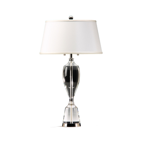 Crystal Nickel Plated Lamp - Decorative Crafts - Treniq