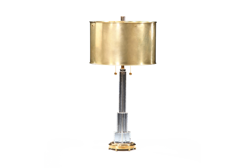 Crystal table lamp brass decorative crafts treniq 1