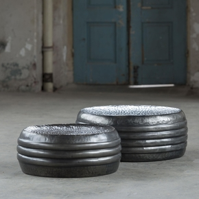 Pair-Of-Round-Steel-Black-Nickel-Coloured-Industrial-Drum-Coffee-Tables._Elderflower-Lane_Treniq_0