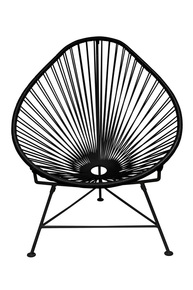Junior Acapulco Chair - Black Weave On Black Frame