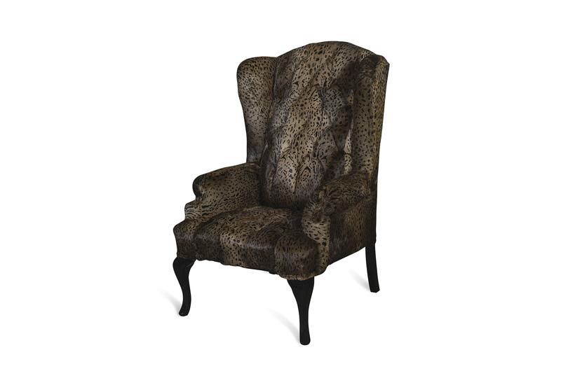 Leopard brown armchair cravt original treniq 2