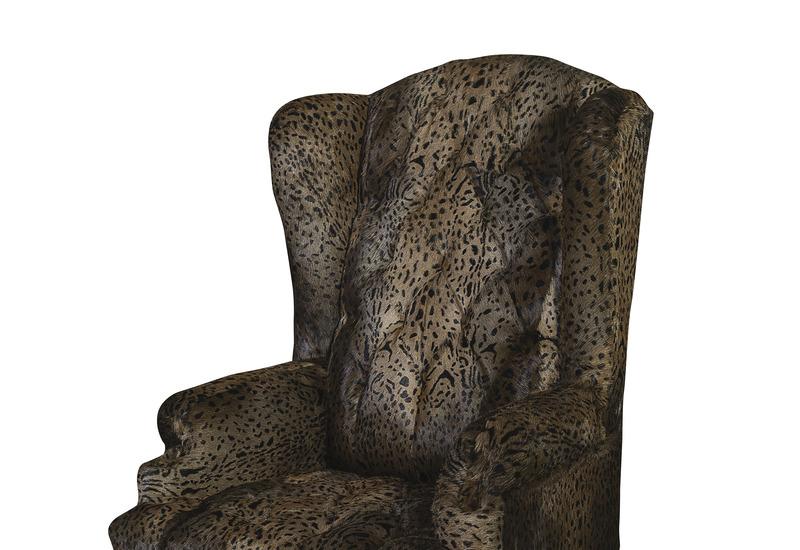 Leopard brown armchair cravt original treniq 3