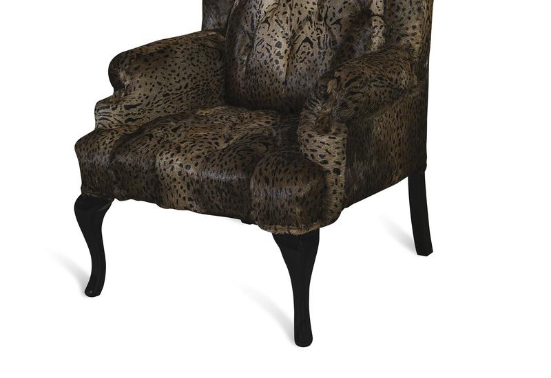 Leopard brown armchair cravt original treniq 4