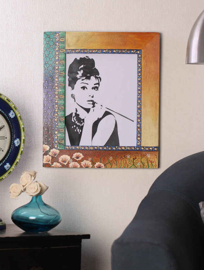 Hand painted mughal dusk photoframe auraz design treniq 1 1509955382421