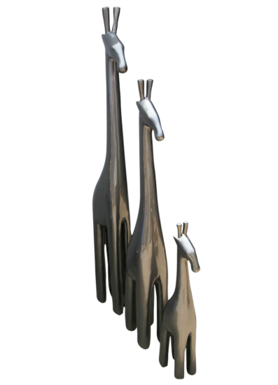 Metallic tall giraffe   steel grey avana africa treniq 1 1510573710378