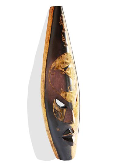 Ghanian double colored elephant mask avana africa treniq 1 1510588090496