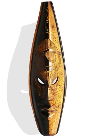 Ghanian double colored elephant mask avana africa treniq 1 1510588090484