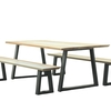 Handcrafted sycamore   steel dining table the maker place treniq 1 1510589790894
