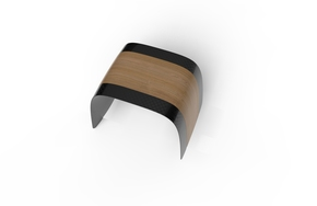 Small-Carbon-Aero-Bench-600-With-Wood-Veneer_Essence-Of-Strength_Treniq_1