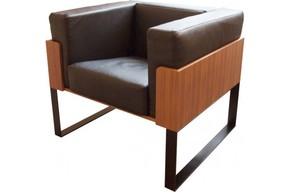 Severin-Armchair-Black-Steel-&-Walnut_Alex-De-Rouvray_Treniq_0
