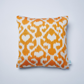 Orange-Jess-Ikat-Cushion_Nomad-Design_Treniq_0