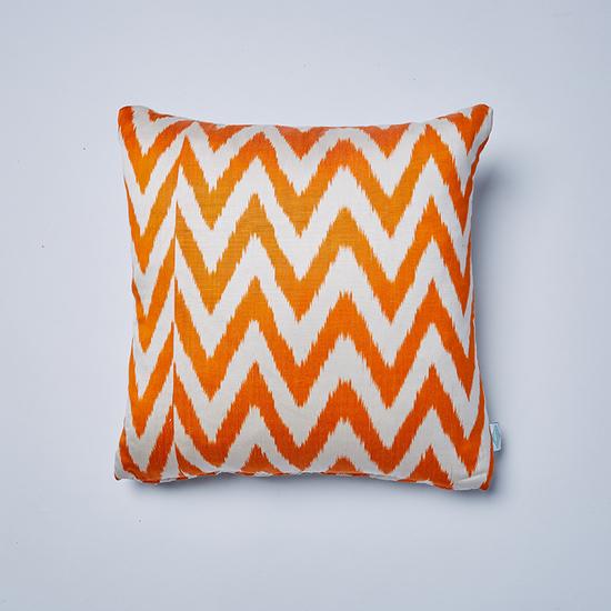 Orange frankie ikat cushion nomad design treniq 1 1512496341929