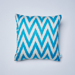 Electric-Blue-Frankie-Ikat-Cushion_Nomad-Design_Treniq_0