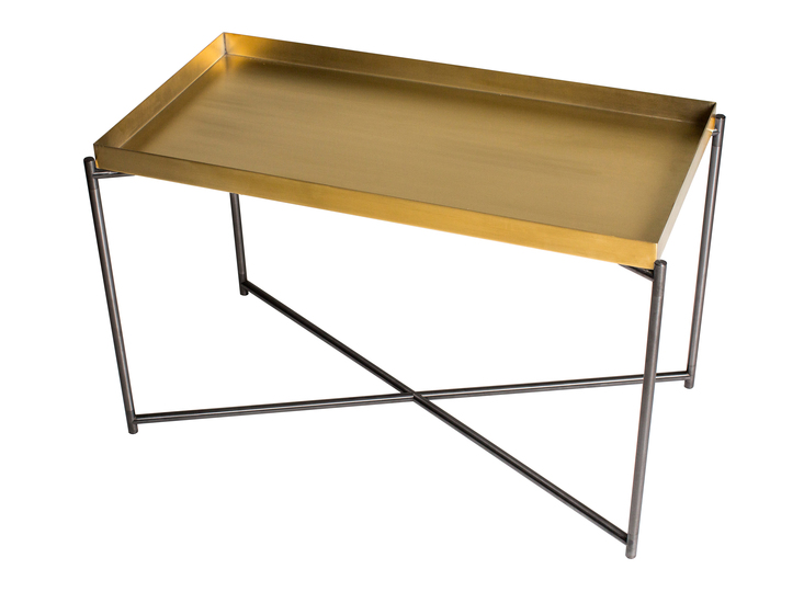 Iris rectangle tray top side table brass   gun metal frame gillmorespace limited treniq 1 1513169381263