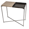 Iris small console table weathered oak top   gunmetal tray and frame gillmorespace limited treniq 1 1513169803573