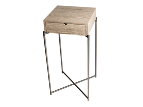 Iris-Square-Plant-Stand-Weathere-Oak-Drawer-And-Gunmetal-Frame_Gillmore-Space-Limited_Treniq_0