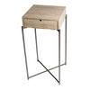 Iris square plant stand weathere oak drawer and gunmetal frame gillmorespace limited treniq 1 1513170181111