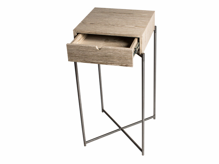 Iris square plant stand weathere oak drawer and gunmetal frame gillmorespace limited treniq 1 1513170181122