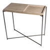 Iris small console table weathered oak tray with gunmetal frame gillmorespace limited treniq 1 1513170481427