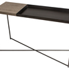 Iris large console table with small weathered oak top  large gunmetal fram gillmorespace limited treniq 1 1513170697268