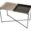 Iris rectangle tray top side table weathered oak   gunmetal trays with gun metal frame gillmorespace limited treniq 1 1513171327090