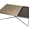 Iris rectangle coffee table weathered oak with gun metal tray and gun metal frame gillmorespace limited treniq 1 1513171476602