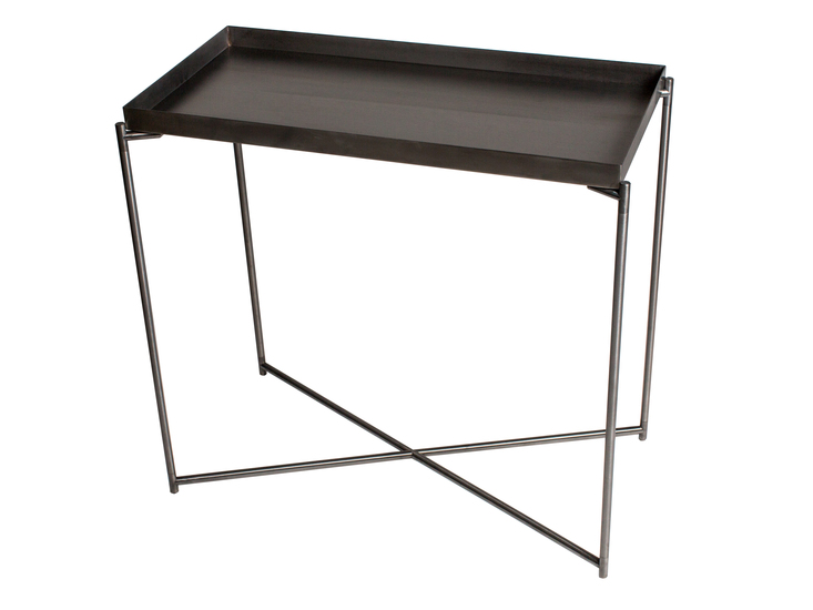 Iris small console table tray top gun metal top with gun metal frame gillmorespace limited treniq 1 1513171564236