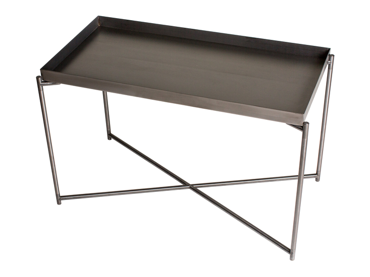 Iris rectangle tray top side table gun metal top with gun metal frame gillmorespace limited treniq 1 1513171636563