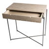 Iris small console table with drawer top in weathered oak with gun metal frame gillmorespace limited treniq 1 1513171758432