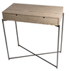 Iris small console table with drawer top in weathered oak with gun metal frame gillmorespace limited treniq 1 1513171758426