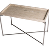 Iris rectangle tray top side table weathered oak with gun metal frame gillmorespace limited treniq 1 1513172360110