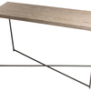 Iris large console table weathered oak with gun metal frame gillmorespace limited treniq 1 1513172693771