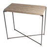Iris small console table weathered oak with gun metal frame gillmorespace limited treniq 1 1513172788632
