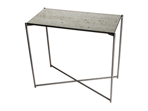 Iris-Small-Console-Table-Antiqued-Glass-With-Gun-Metal-Frame_Gillmore-Space-Limited_Treniq_0