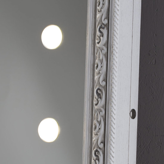 Lighted mirror mf388a white veneer grey* chiara ferrari treniq 1 1513268519357