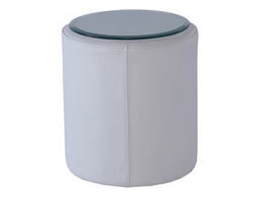 Enzo-Leather-White-Cylinder-Side-Table_Gillmore-Space-Limited_Treniq_0