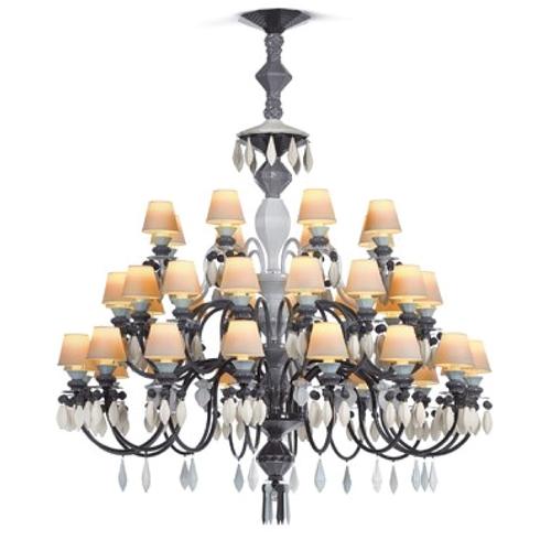Belle de nuit chandelier 40 lights black lladro treniq 1 1513355390582